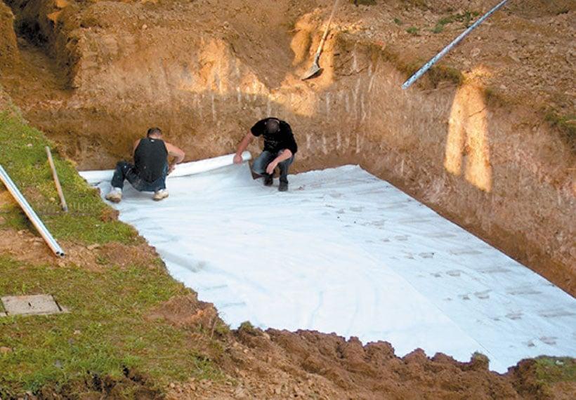 geotextile-mise-en-place Installation