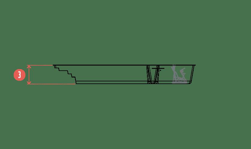piscine-coque-asymetrik-coupe Modèle Asymetrik