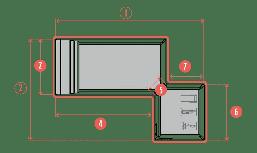 piscine-coque-asymetrik-plan Modèle Asymetrik