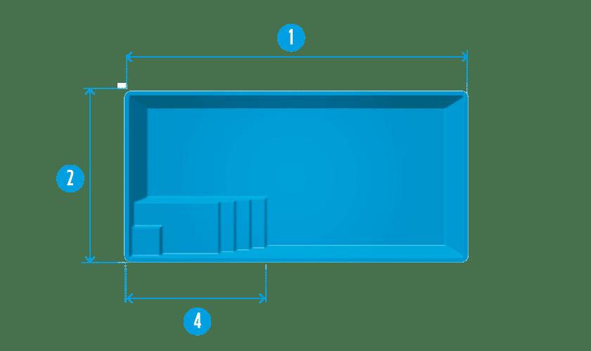 piscine-coque-auron-plan Modèle Auron