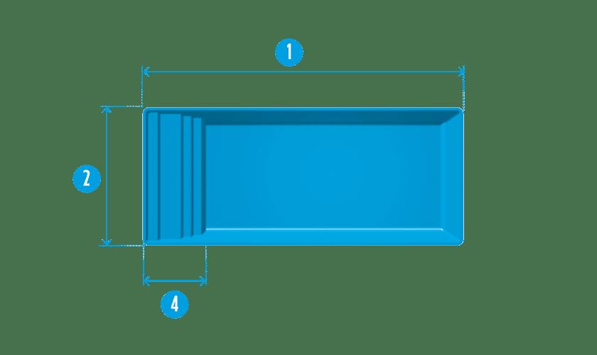 piscine-coque-bendor-plan Modèle Bendor