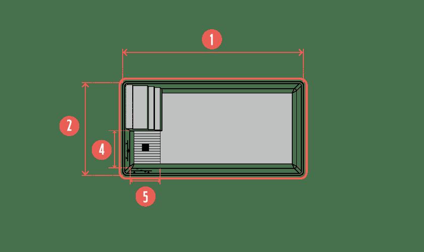 piscine-coque-classik-plan Modèle Classik