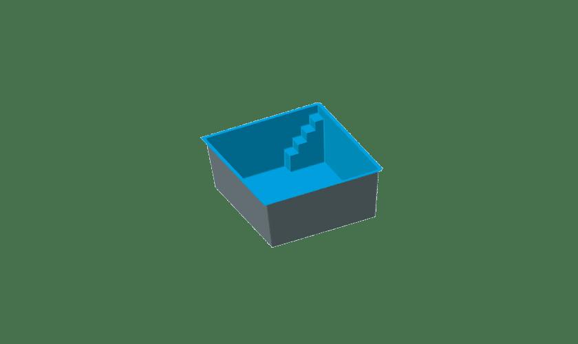 piscine-coque-corniche-3d Modèle Corniche