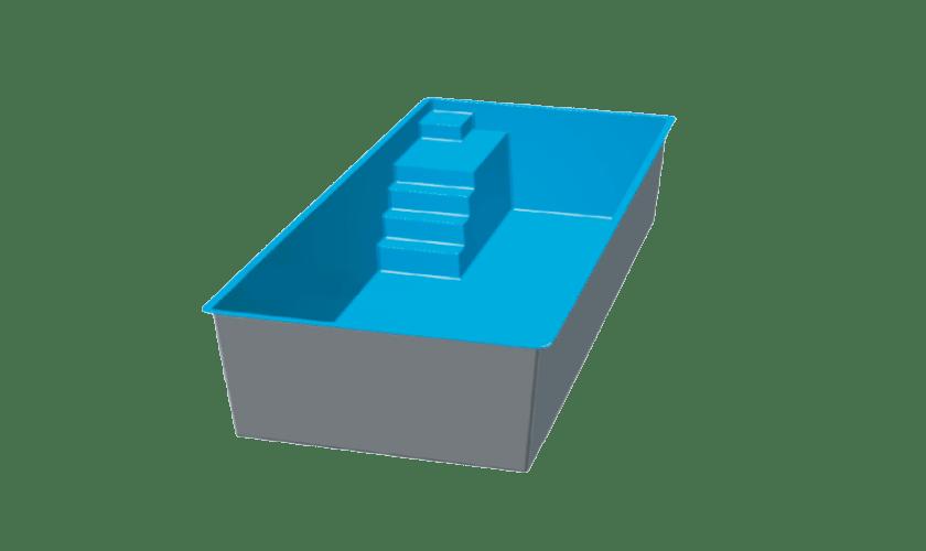 piscine-coque-couloir-de-nage-3d Modèle Couloir de nage