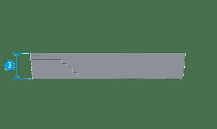 piscine-coque-couloir-de-nage-coupe Modèle Couloir de nage