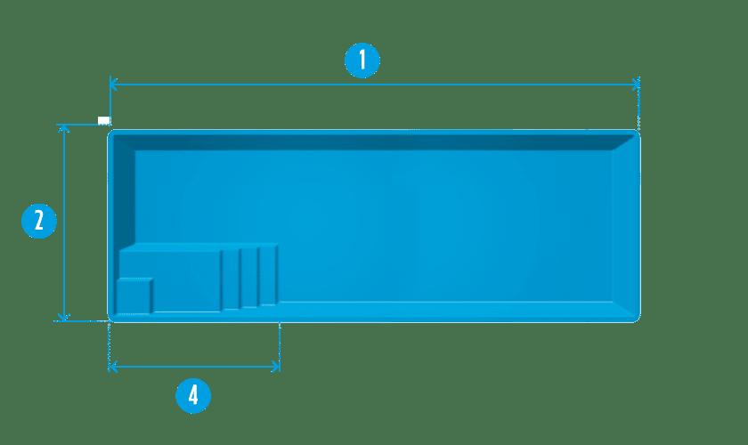piscine-coque-couloir-de-nage-plan Modèle Couloir de nage