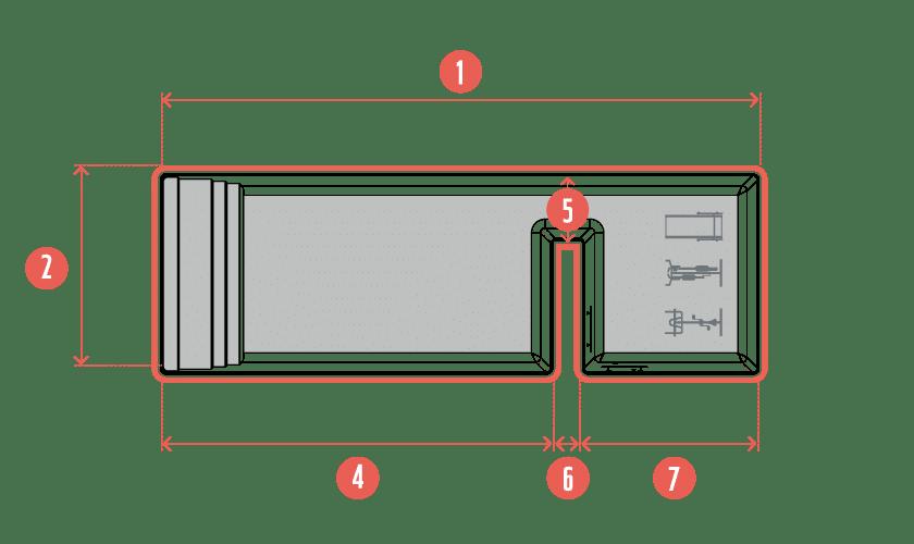 piscine-coque-dyptik-plan Modèle Dyptik