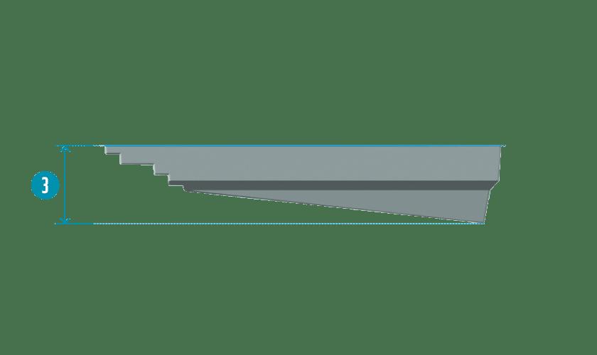 piscine-coque-elegance-coupe Modèle Élégance S