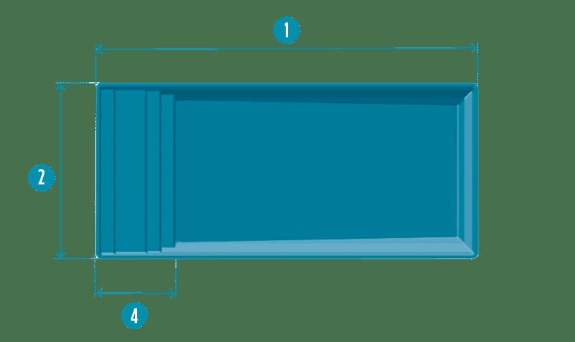 piscine-coque-elegance-plan Modèle Élégance S