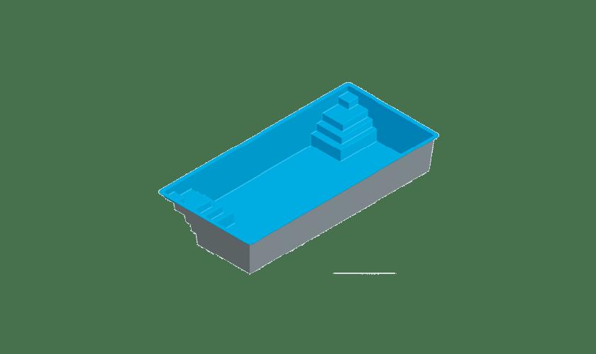 piscine-coque-en-vau-3d Modèle En Vau