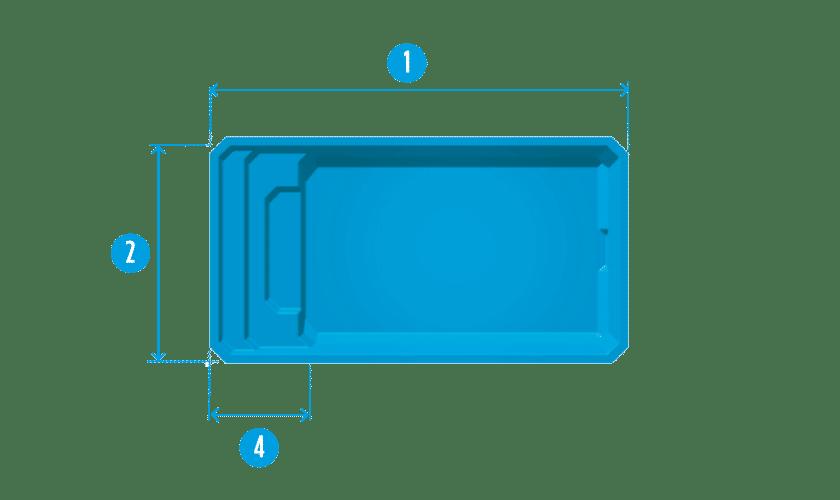 piscine-coque-giens-plan Modèle Giens