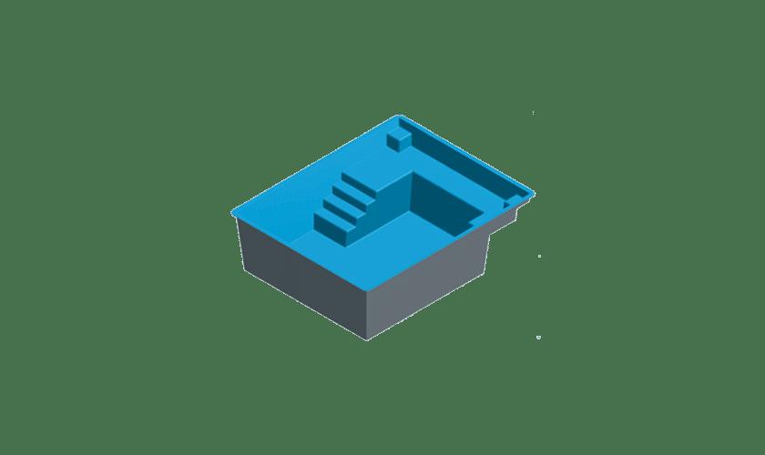 piscine-coque-maxi-carre-3d Modèle Maxi Carré