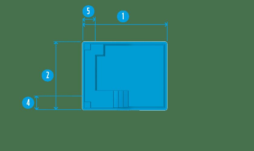 piscine-coque-maxi-carre-plan Modèle Maxi Carré