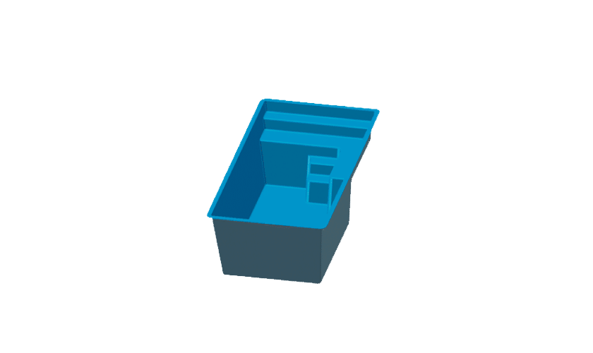 piscine-coque-mini-3d Modèle Mini
