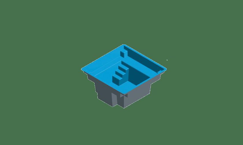 piscine-coque-mini-carre-3d Modèle Mini Carré