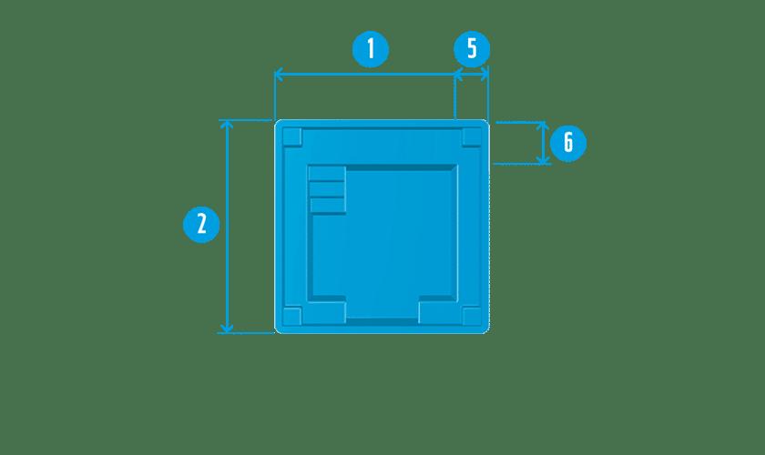 piscine-coque-mini-carre-plan Modèle Mini Carré