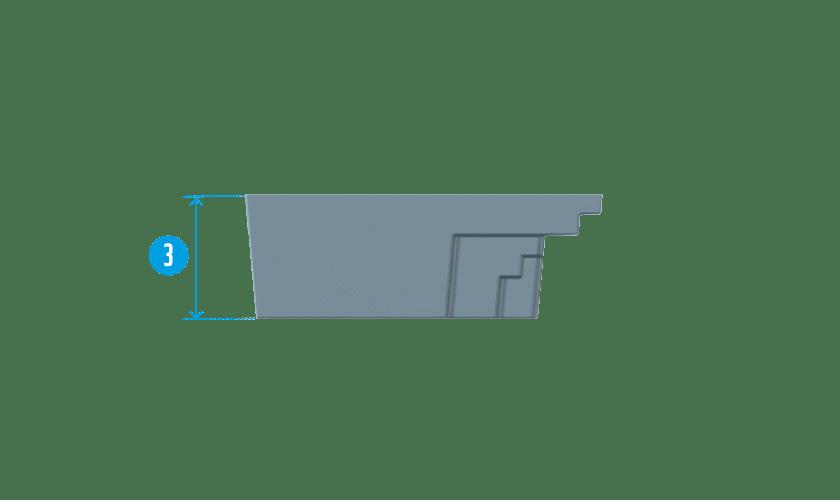 piscine-coque-mini-coupe Modèle Mini