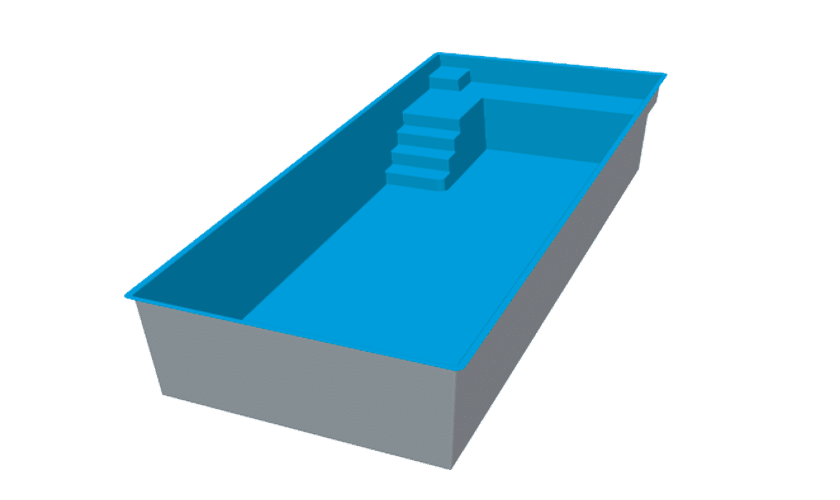 piscine-coque-mon-blanc-3d Modèle Mont Blanc