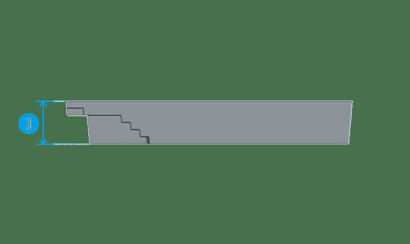 piscine-coque-mont-blanc-coupe Modèle Mont Blanc