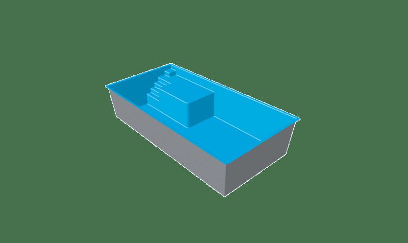 piscine-coque-plage-canet-3d Modèle Canet Plage