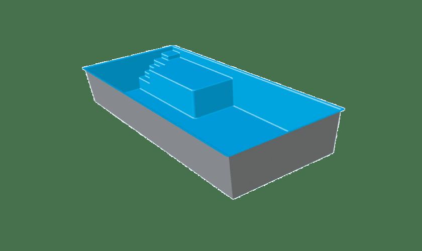 piscine-coque-plage-gruissan-3d Modèle Gruissan Plage