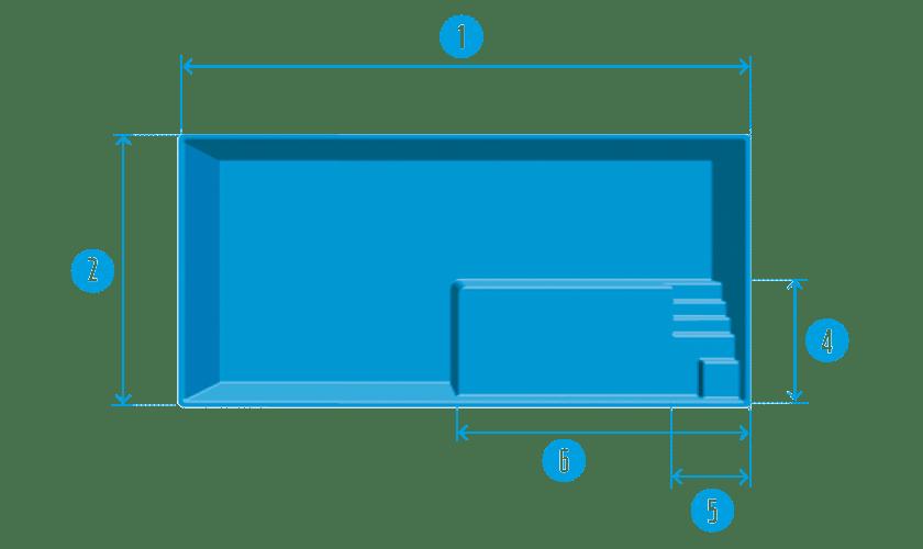 piscine-coque-plage-gruissan-plan Modèle Gruissan Plage