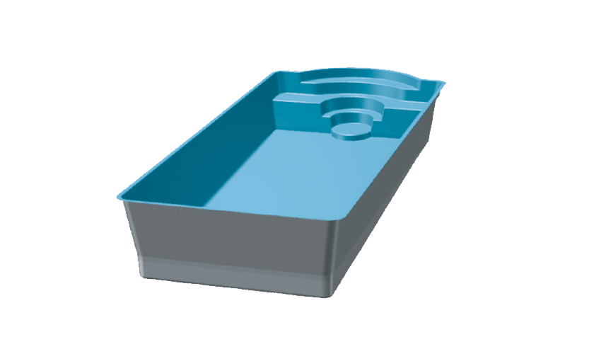 piscine-coque-pomaregue-3d Modèle Pomarègue