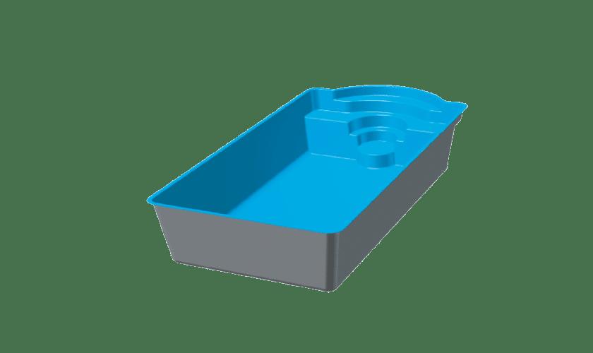piscine-coque-porquerolle-3d Modèle Porquerolles