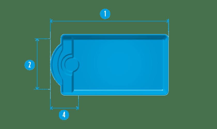 piscine-coque-porquerolle-plan Modèle Porquerolles