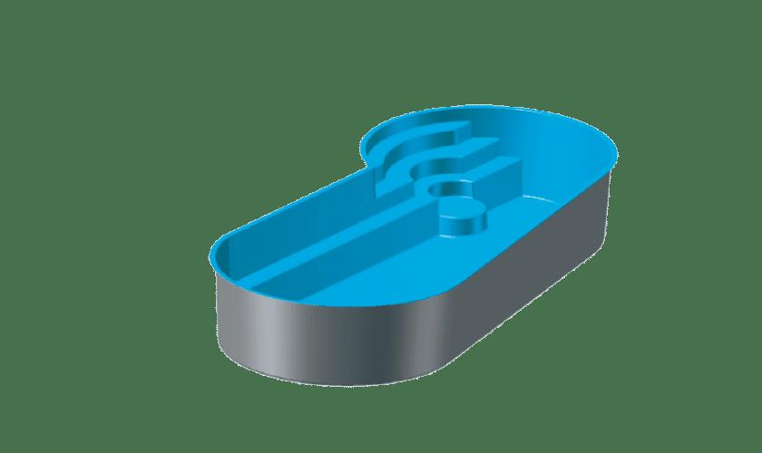 piscine-coque-port-cros-3d Modèle Port-Cros