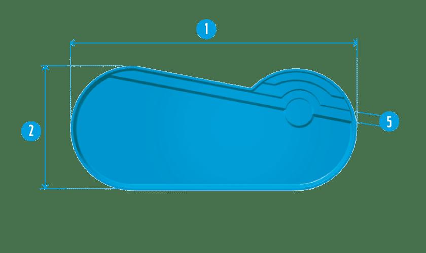 piscine-coque-port-cros-plan Modèle Port-Cros
