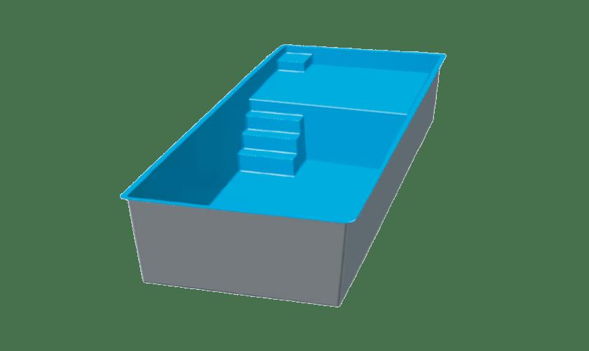 piscine-coque-prado-plage-3d Modèle Prado Plage