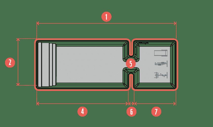 piscine-coque-symetrik-plan Modèle Symetrik